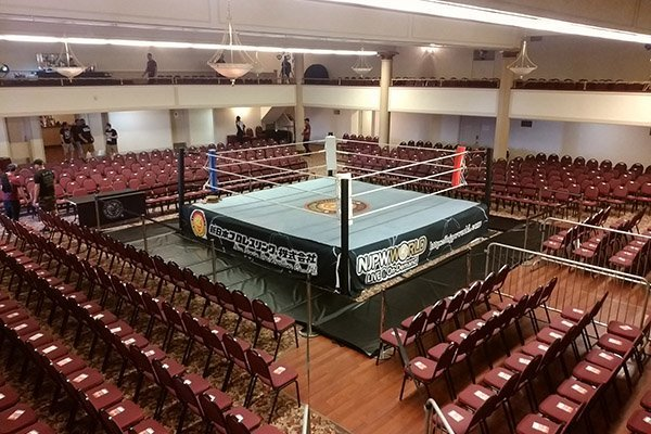 The Temple Theater is ready for #sjcup!  All three Super J-Cup events coming soon to VOD on @njpwworld ! <br>http://pic.twitter.com/gzbx7GJ95K