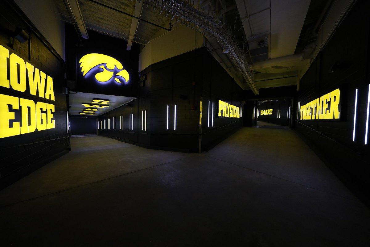 Iowa Renovated Home Team Tunnel At Kinnick Stadium