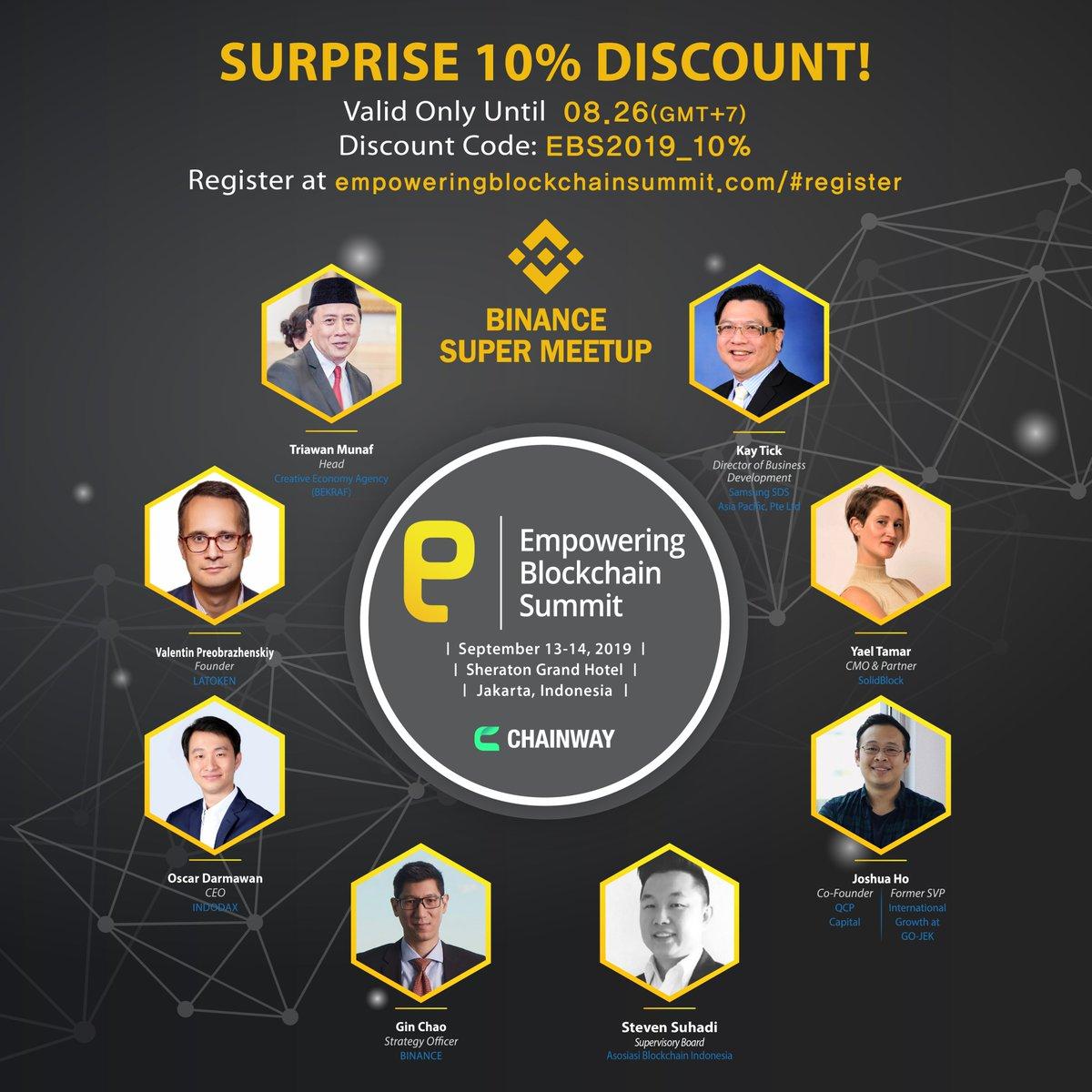 Event_Chainway - Empowering Blockchain Summit 2019 Twitter