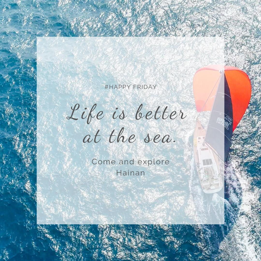 #ExploreHainan #HappyFriday  Life is better at the sea. Are you thinking of escaping from the hustle and bustle and get an ultimate relaxation? Come and explore Hainan, 59 countries visa free! More info about Hainan can be found here  https:// en.explorehainan.com    <br>http://pic.twitter.com/2ONvmhks2j
