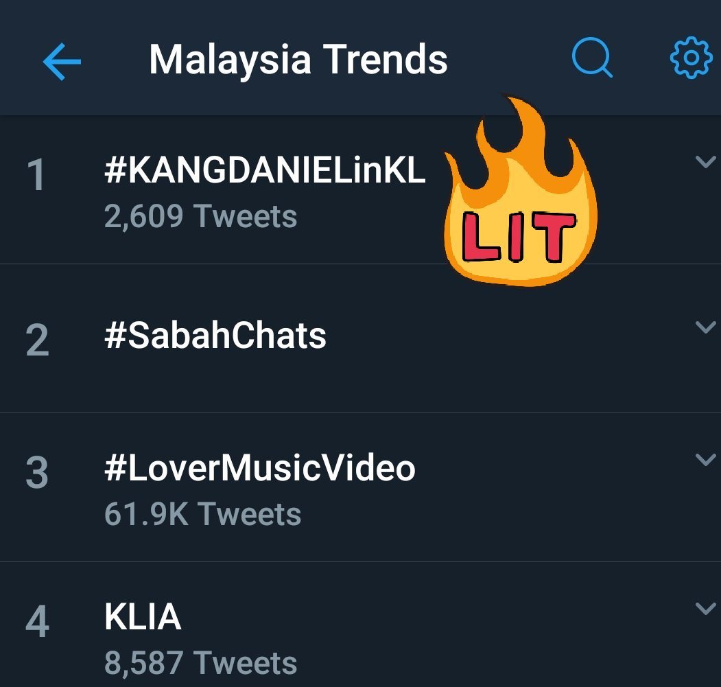 TRENDS.  190823 11.36am kst  #KANGDANIELinKL NO 1!  @danielk_konnect  #강다니엘 #KangDaniel #ColorOnMe <br>http://pic.twitter.com/trbkcCEiRM