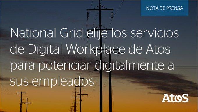 @nationalgridus adjudica a Atos un contrato de Servicios de Puesto de Trabajo Digital, para...