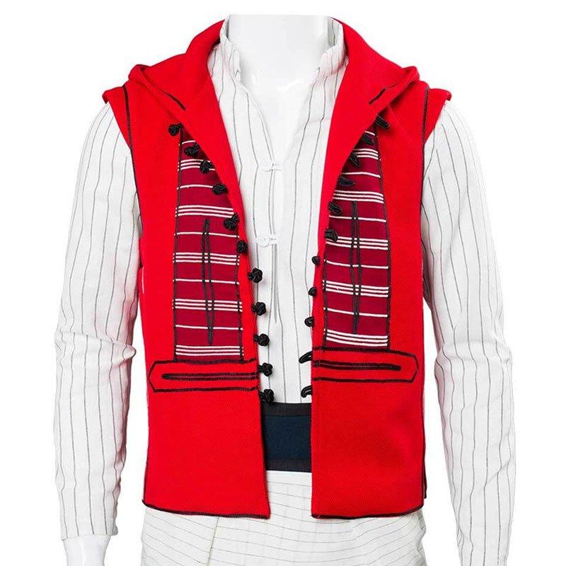 Mena Massoud Red Hooded Aladdin Vest For Men  @Aladdin2019_HD @MenaMassoud @KorgUSA<br>http://pic.twitter.com/F2EW7Jlrgq