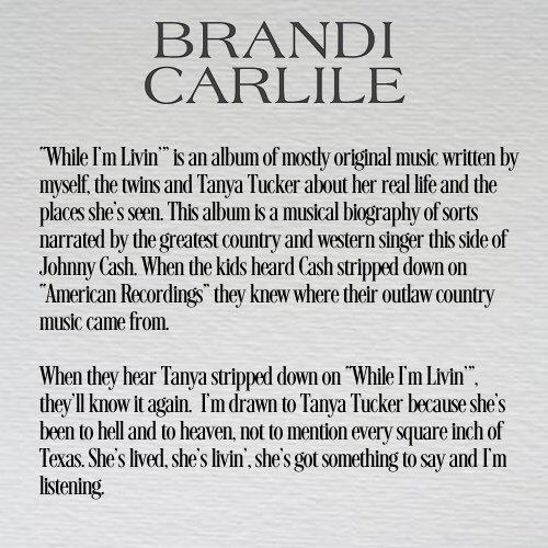 Brandi Carlile (@brandicarlile) | Twitter