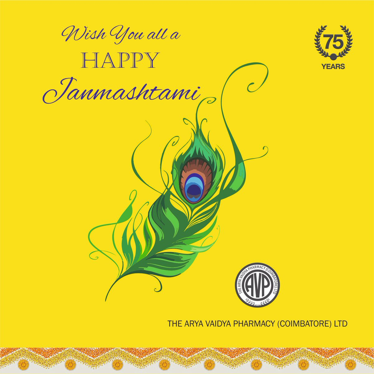 #HappyJanmashtami from all of us at Arya Vaidya Pharmacy!