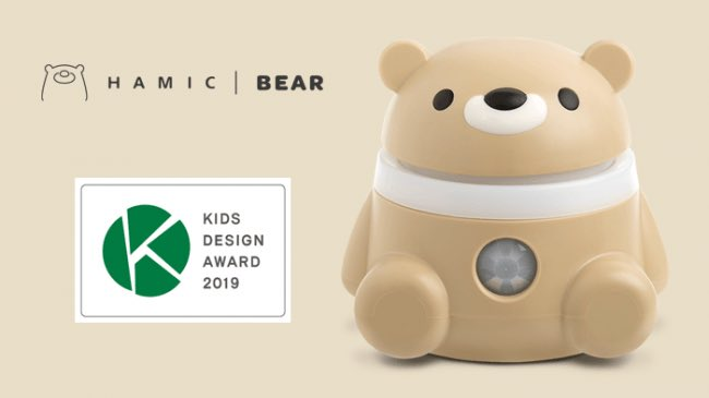 This year's Kids Design Award went to Hamic Bear, a communication robot for kids who don't have cell phones. <br>http://pic.twitter.com/2qhkvM9oH8