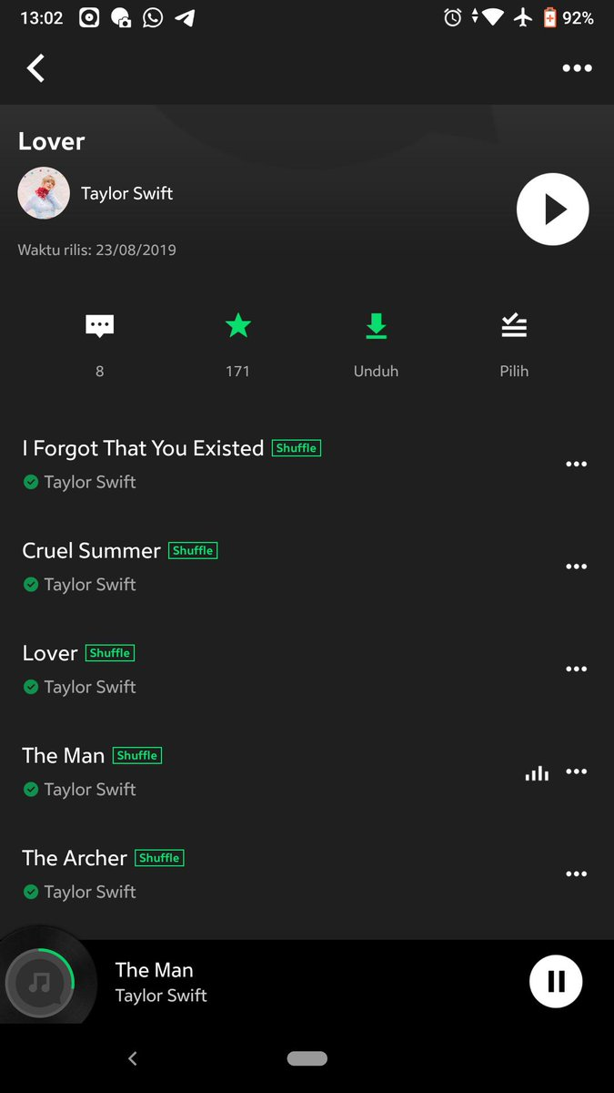 Finally DONE #Lover Spotify, joox diribak-ribakan 😂