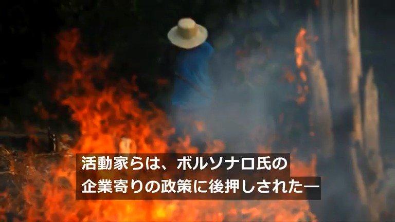 RT @Reuters_co_jp: アマゾンの熱帯雨林で大規模火災が急増している。 https://t.co/SUgo0QPIw9