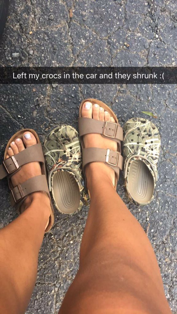 RT @cierrajamaewall: @Autumn_Kamrie Same thing happened to my crocs!! https://t.co/uYNGWzt81Z
