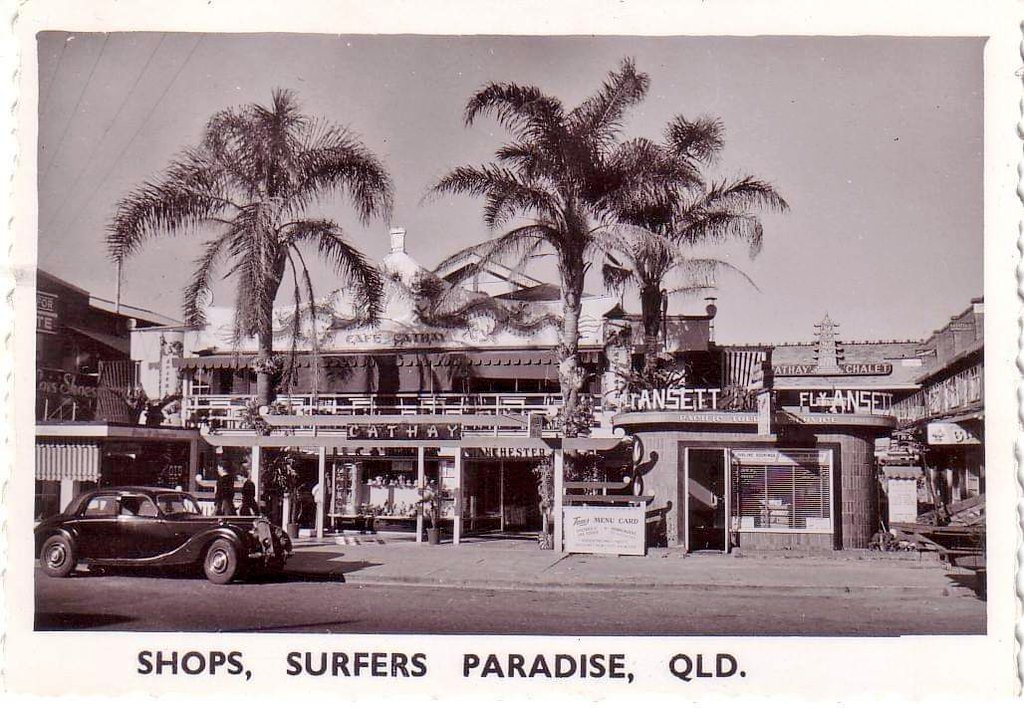 Old Shops Australia On Twitter 1950s Postcard Of Cavill Ave Shops At Surfers Paradise Qld Featuring Cathay Chinese Restaurant And We Re Told A 1951 Riley Saloon Car Pic Credit Sandra O Hagan Https T Co Coak6frzmh