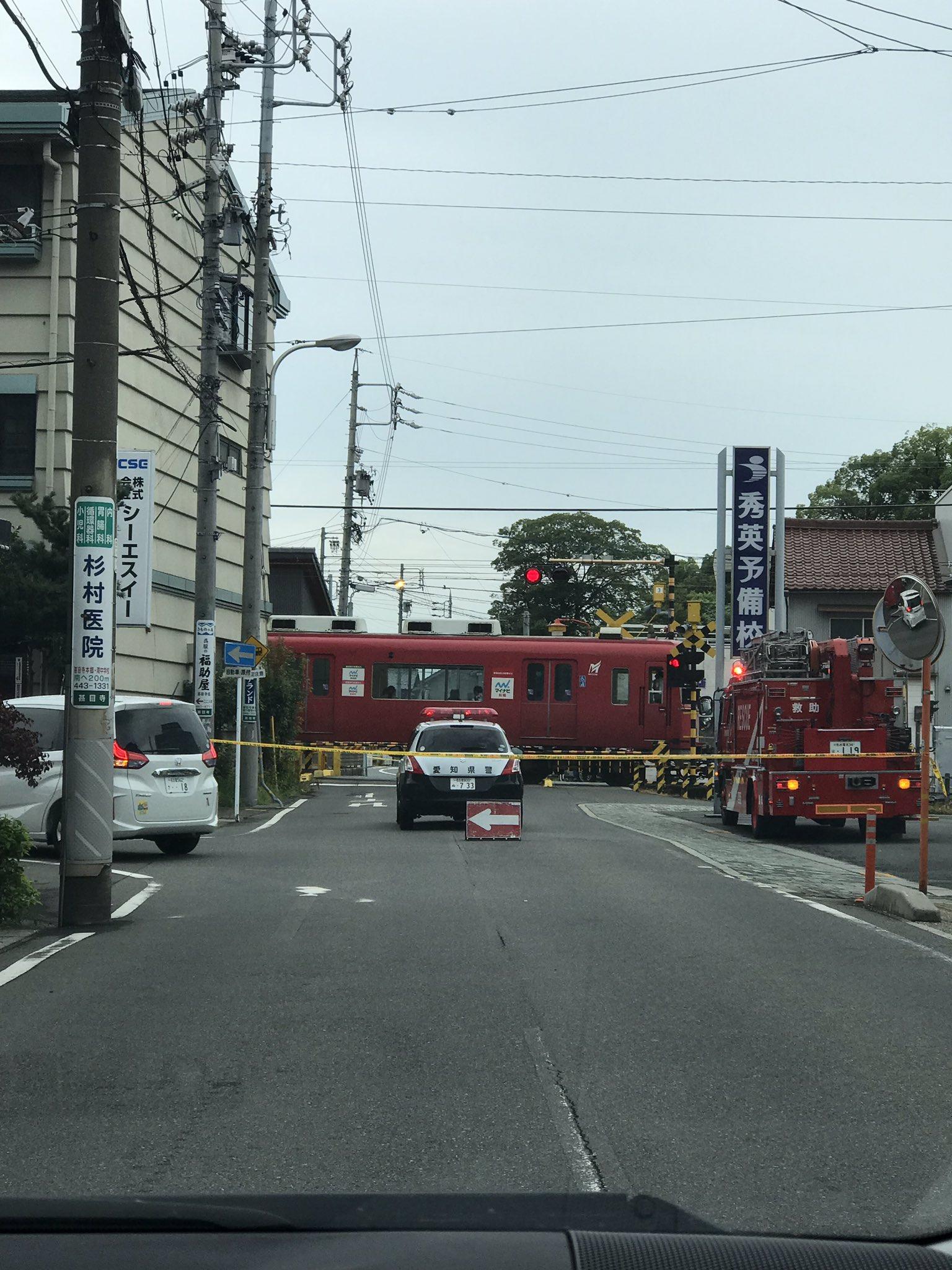 津島線の甚目寺駅~七宝駅間で人身事故が起きた現場の画像