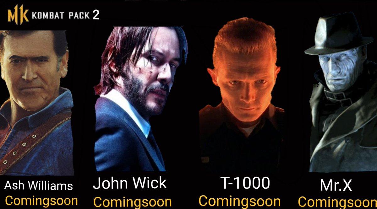 @MortalKombat @noobde  Kombat Pack 2 idea Ash William John Wick  T-1000 Mr.X #MortalKombat11 #MK11<br>http://pic.twitter.com/Ho5lDolkBY