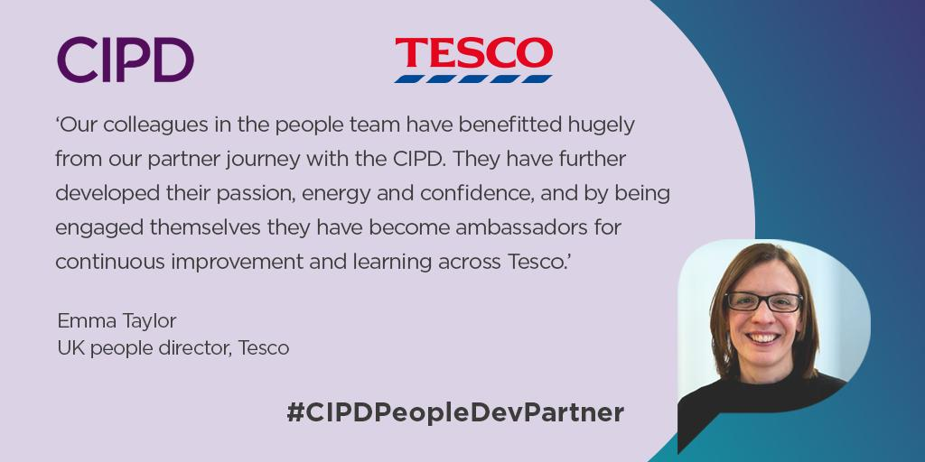 We're excited to announce that @tesconews, the UK's largest retailer, is our first People Development Partner. Tesco has worked closely with us for several years to develop its HR capabilities through various different ways. #CIPDPeopleDevPartner ow.ly/1Jv850vG0uT