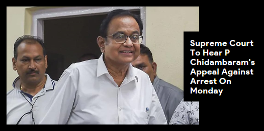Lead story now on http://ndtv.com #PChidambaram's petition challenging his arrest by the CBI in a corruption investigation will be heard by the Supreme Court on Monday, when his five-day custody ends. https://www.ndtv.com/india-news/p-chidambaram-in-cbi-custody-till-monday-may-get-top-court-hearing-today-2089160…#NDTVLeadStory #INXMediaCase