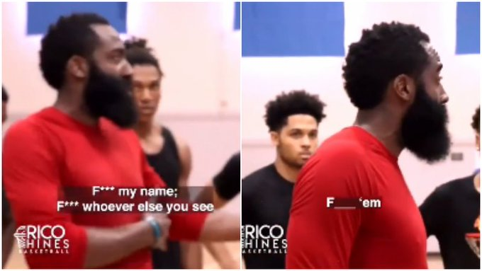 【影片】哈登訓練營爆粗口激勵年輕球員:別管我是誰,對手是誰,幹翻他們