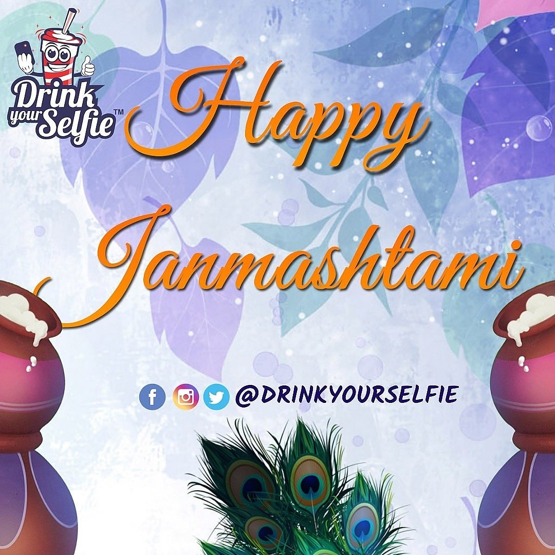 May the love, harmony and happiness in your life be sustained by the grace of #LordShriKrishna. Best wishes to Shri Krishna Janmashtami. #DrinkYourSelfie #selfieshakes #selfiecoffee #selfiemainepeeliaaj #janmashtami #krishnastami #happykrishnastami #krishna #harekrishna