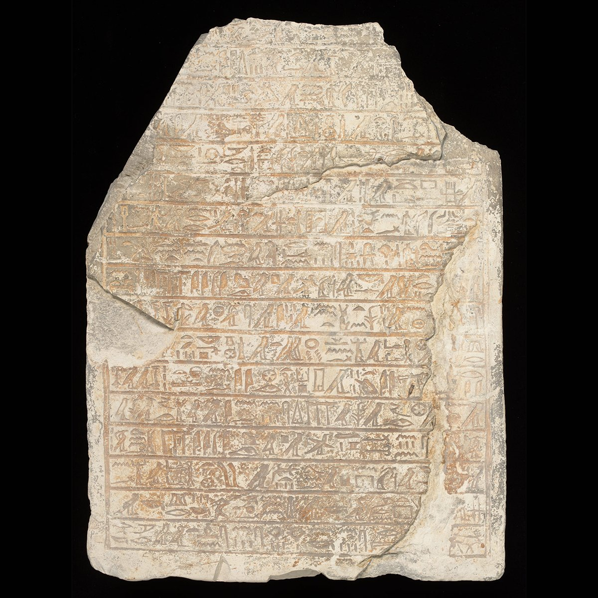 We'd like to show you the oldest item in our collection.   Currently on display in #MakingYourMark, this 3,600-year-old stela is inscribed with Egyptian #hieroglyphs. Although yet to be fully deciphered, we know it contains a hymn to the god of the netherworld, Osiris.<br>http://pic.twitter.com/lpMoEi8Yvg