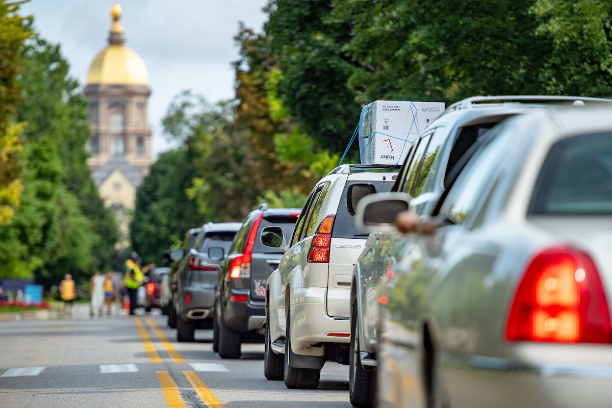 Rise and shine! It's move-in day!  Welcome home, #ND2023!<br>http://pic.twitter.com/8PPMXiC5rg