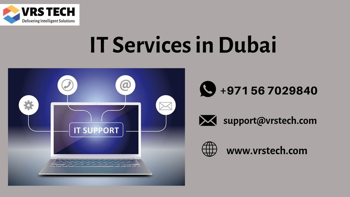 VRS Tech is the leading IT consultant and support company in Dubai offering IT services, support, security and more call us on +971 56 7029840 #ITservicesindubai #ITsolutionsindubai #ITsolutionDubai #Dubai #UAE #technology #ITservicesdubai  More Info: http://bit.ly/2YqrYfw pic.twitter.com/qH6EdXNe3m