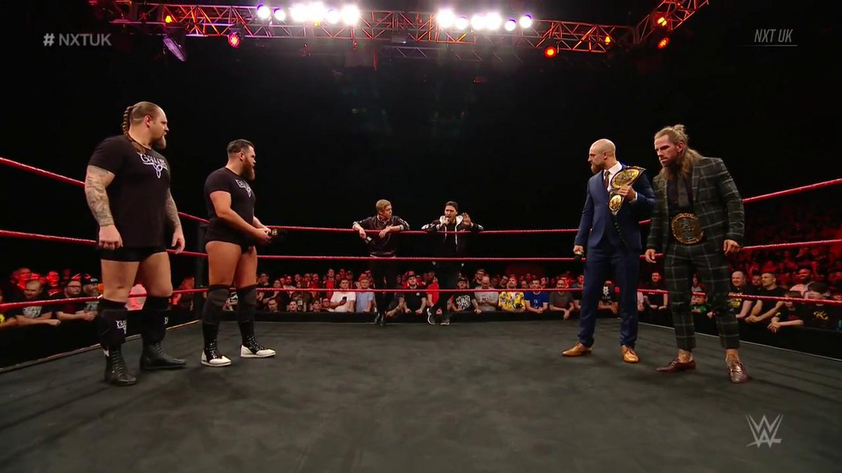The Gallus Markus, Joe and I always have a strategy. See how it plays out after #NXTUKTakeOverCardiffWhen you hear the noise of the #Gallus army boys, We'll be coming down the road.Come with ushttps://www.ticketmaster.co.uk/event/360056C6D2D3B697?brand=motorpointarenacardiff…