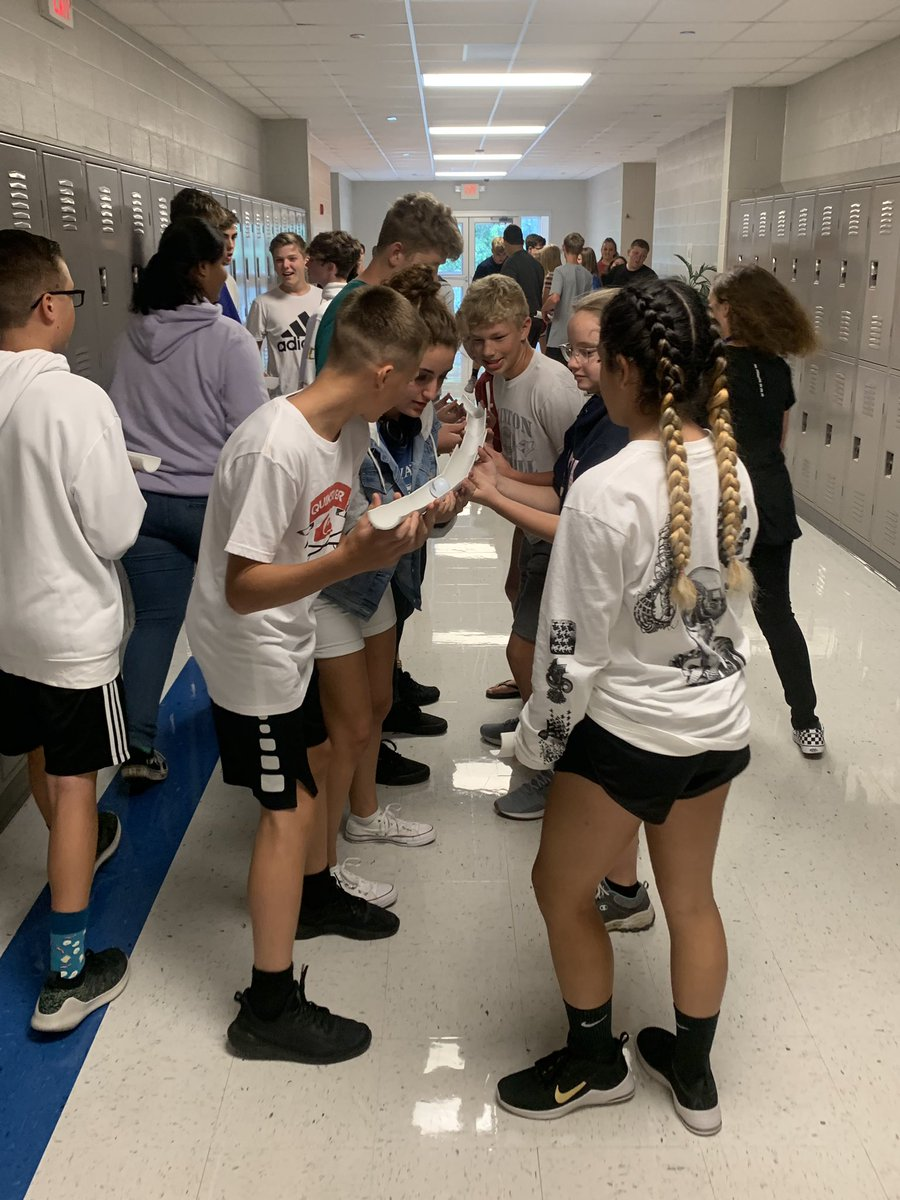 @STEMin202 and Hetherington's Cardinal Time competed in a pipeline challenge to see who could get their golf ball down the pipeline and into the bucket first. #teamwork #hetheringtonswin #cardinalpride https://t.co/lpx7qK8y4L