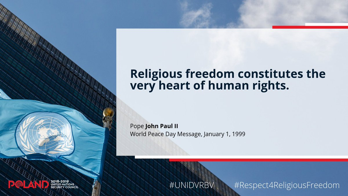 The Int'l Day Commemorating the Victims of Violence Based on Religion or Belief is not aligned with a specific religion or belief.  It commemorates all victims of persecution because religious freedom is a universal human right.  #Respect4ReligiousFreedom #UNIDVRBV<br>http://pic.twitter.com/l1mzbAd73V