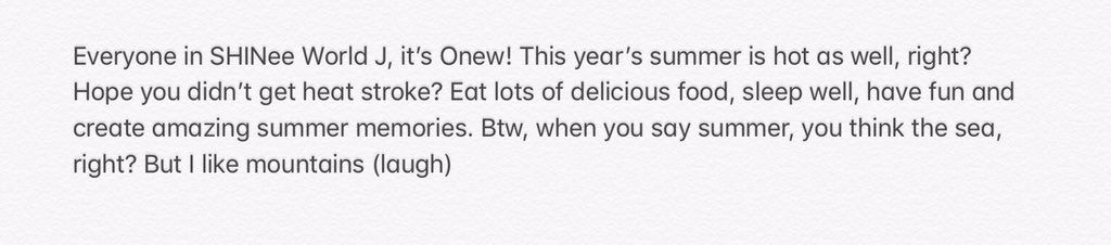 Onew's voice letter to SHINee World J  <br>http://pic.twitter.com/AaV3SeNlfe