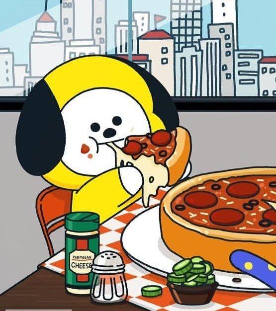 울 치미 피자 입주변에 다 묻히고 먹을 정도로 조아하는대 초롱초롱 눈망울로 쳐다보던 슈키 피자 뇸뇸하면서 행복해하는거 보는게 더 조앗던고야. .