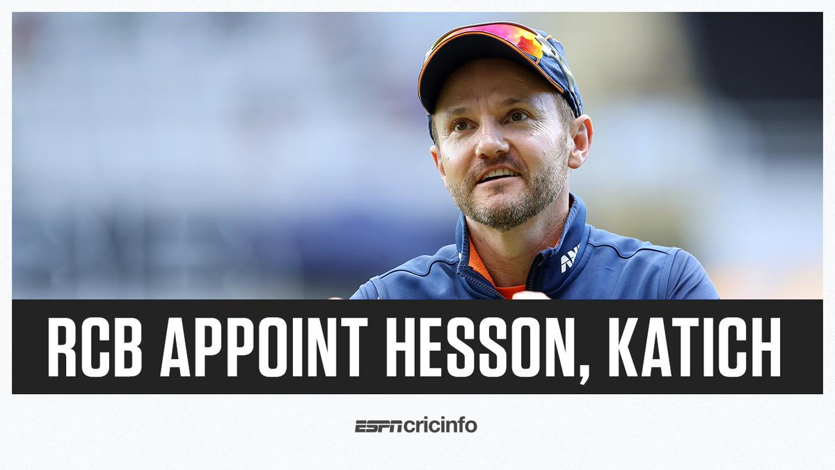 """Gary Kirsten and Ashish Nehra out, Mike Hesson and Simon Katich in for @RCBTweets as they look to achieve """"high performance"""" in coming IPL seasons   https:// es.pn/2U1tJu3    <br>http://pic.twitter.com/vTJkbqYlt8"""