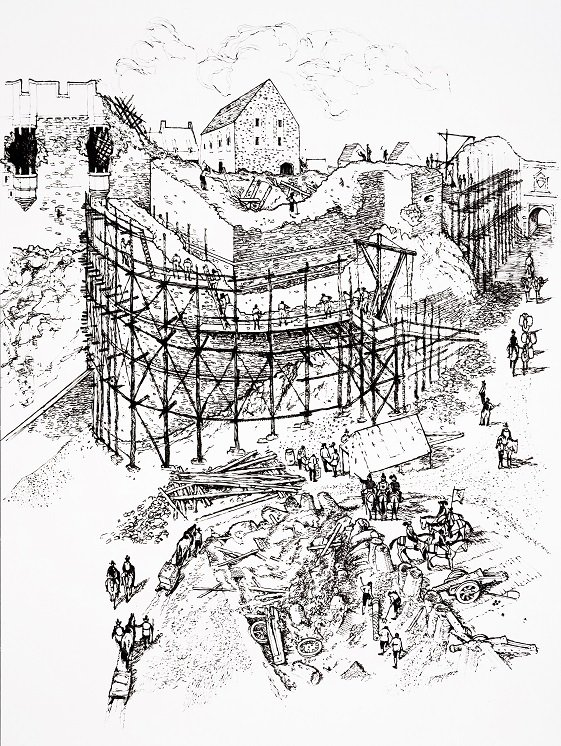 #OnThisDay in 1912, an excavator was lowered through a hole to rediscover David's Tower. Read more about the fascinating discover in our blog post. ow.ly/nCEe50vGB3c #EdinburghCastle #FlashBackFriday