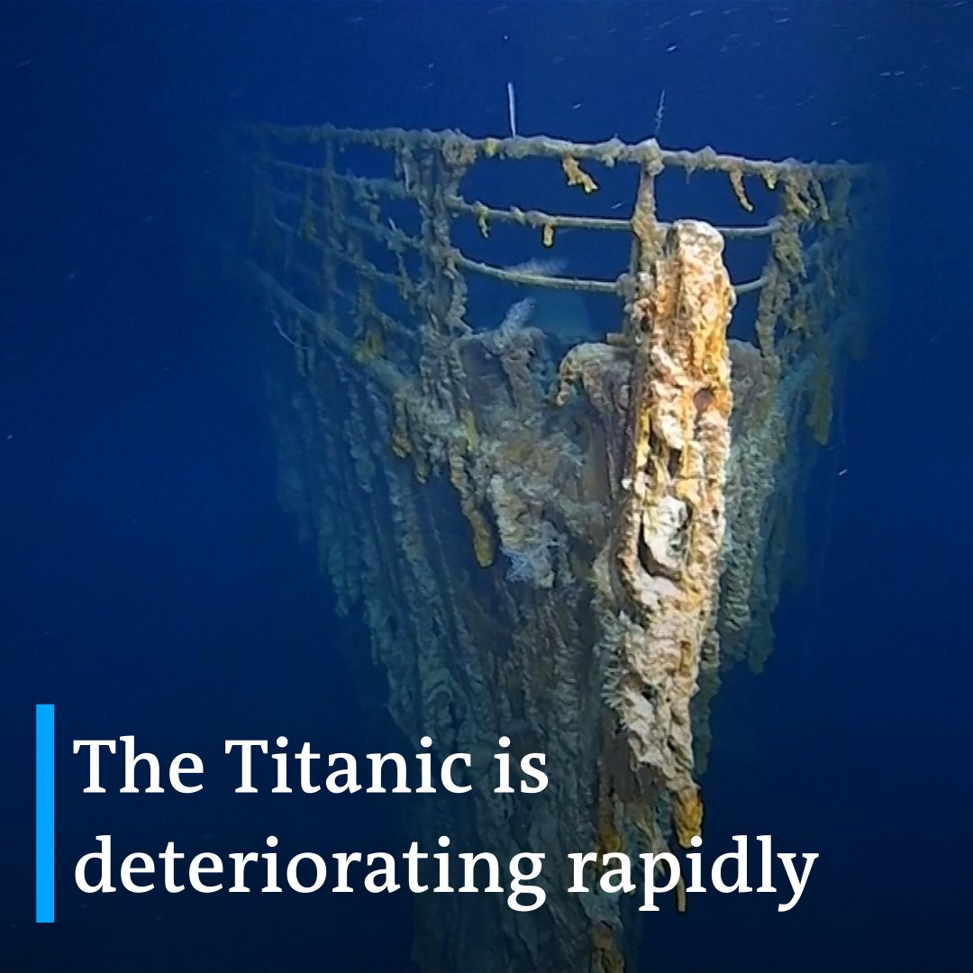 RT @dwnews: These first images of the Titanic in 14 years show the wreck is being swallowed up by the ocean floor. https://t.co/VqzgjjVONd