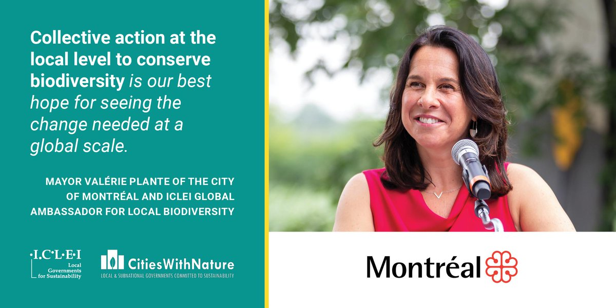 RT @ICLEI_Europe .@ICLEI has bolstered our commitment to address #biodiversityextinction, appointing Mayor Plante of Montreal 🇨🇦 as Global Ambassador for Local Biodiversity. Mayor Plante will highlight & advocate for local government protection of biodiversity  More: https://t.co/sv7A3kiIUR