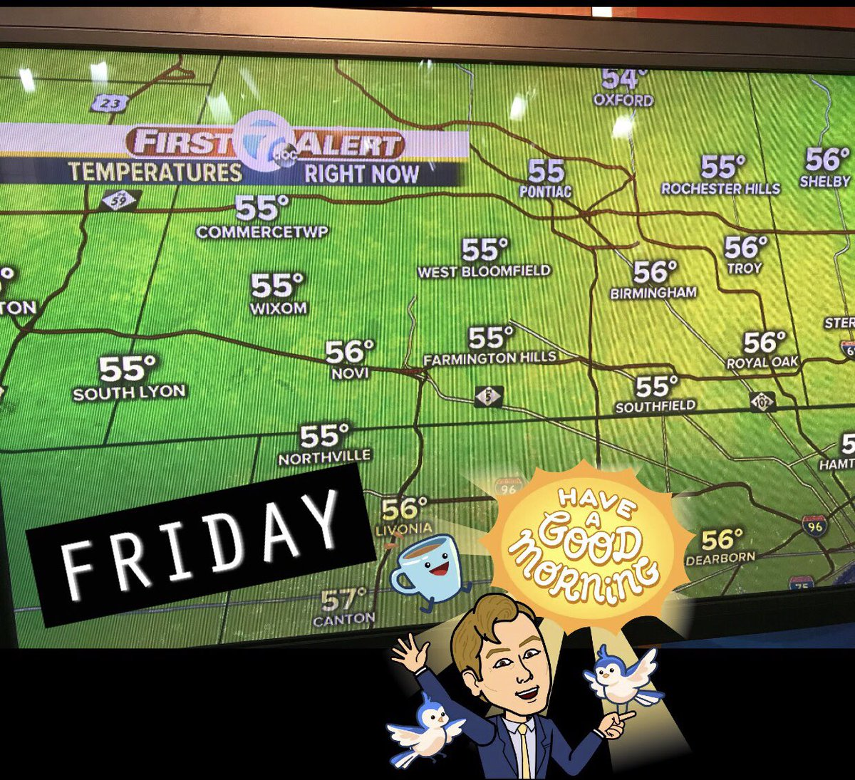 """Hasn't been this """"cold"""" since June 23rd.  #ILikeIt #MIwx #Friday<br>http://pic.twitter.com/g3f1IFDLPz"""
