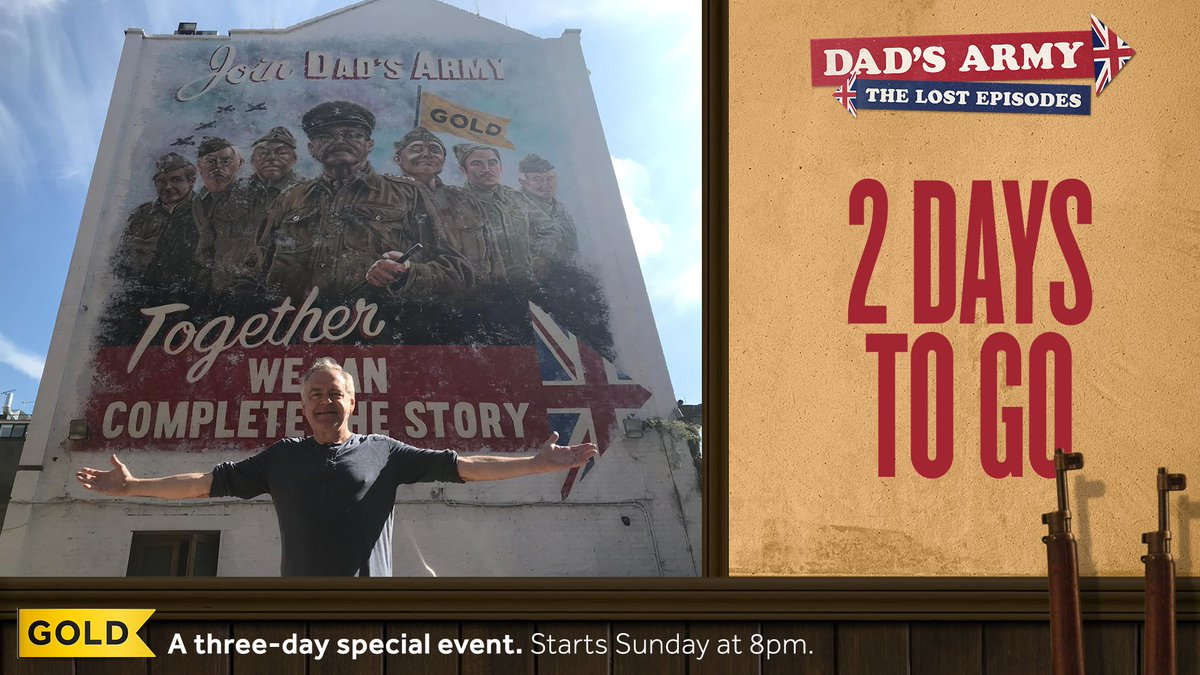 .@exkevinmcnally couldn't resist seeing the billboard for himself! Tune in at 8pm on Sunday for the first instalment of #DadsArmy: The Lost Episodes.<br>http://pic.twitter.com/olWT3QMRYt