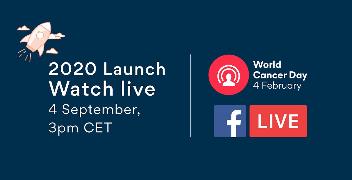 #WorldCancerDay is back and we're inviting you to help us celebrate our 20th anniversary! It's going to be epic. Join us live on Facebook on Wednesday 4 September 15:00 CET for the official launch!  http:// ow.ly/XgbR50vFJXy     #IAmandIWill<br>http://pic.twitter.com/v71PuyCUPw