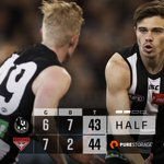 Image for the Tweet beginning: Half-time at the G.  Been a