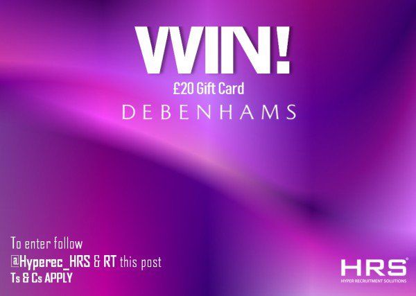 COMPETITION TIME  #Competition #giveaway #WIN a £20 Debenhams e-gift card! To be in with a chance, just FOLLOW @hyperec_HRS, RETWEET this post and COMMENT what you'd buy #HappyFriday #win #giveawaycontest #giveawaytime #repost #contest  ENDS: 30/08/19<br>http://pic.twitter.com/7ZqazrTEgX