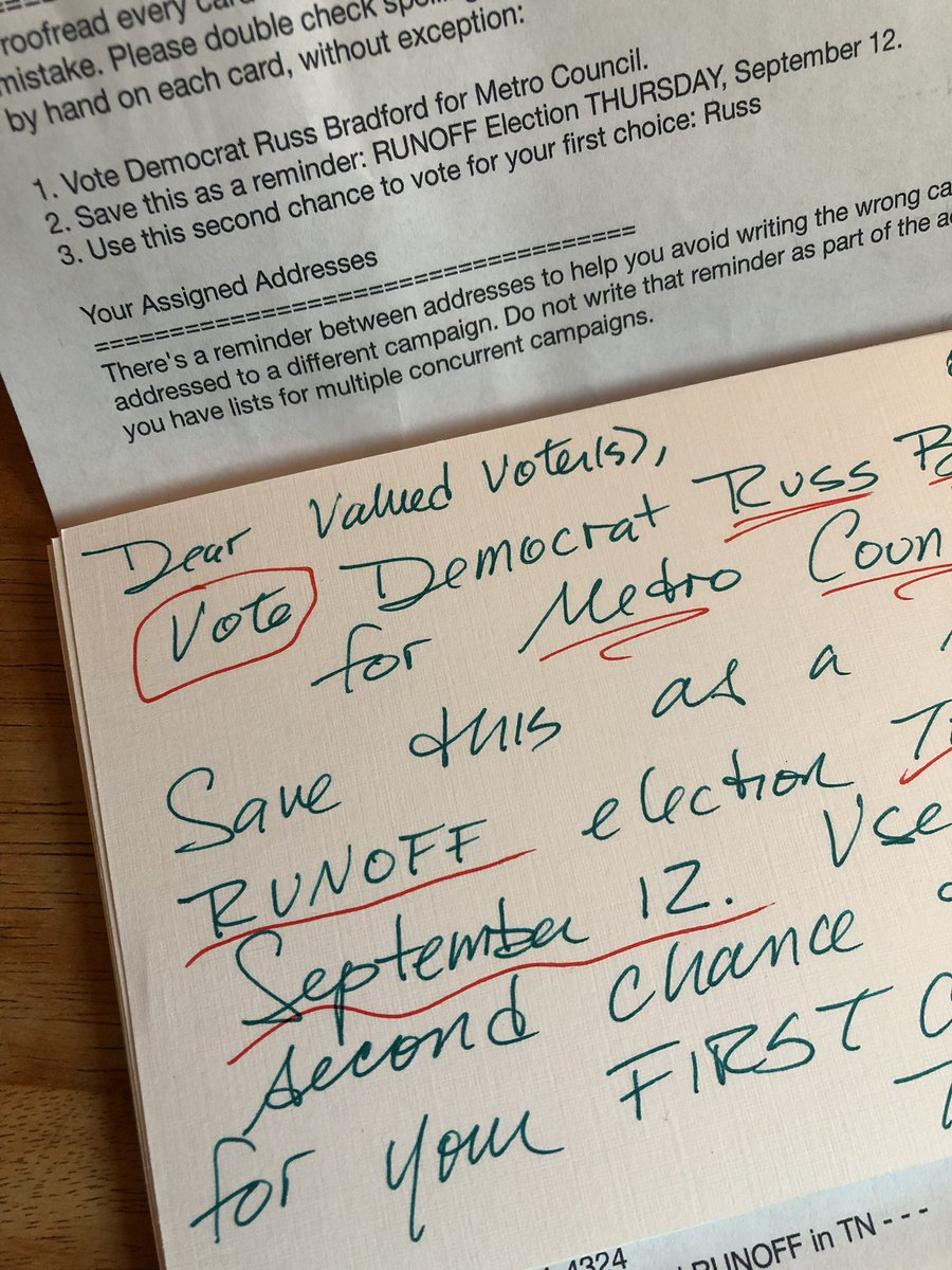 Have a Trump-voter relative here at my house. Am up early writing #PostcardsToVoters ... like burning sage for democracy. <br>http://pic.twitter.com/hK5V7qgx5w