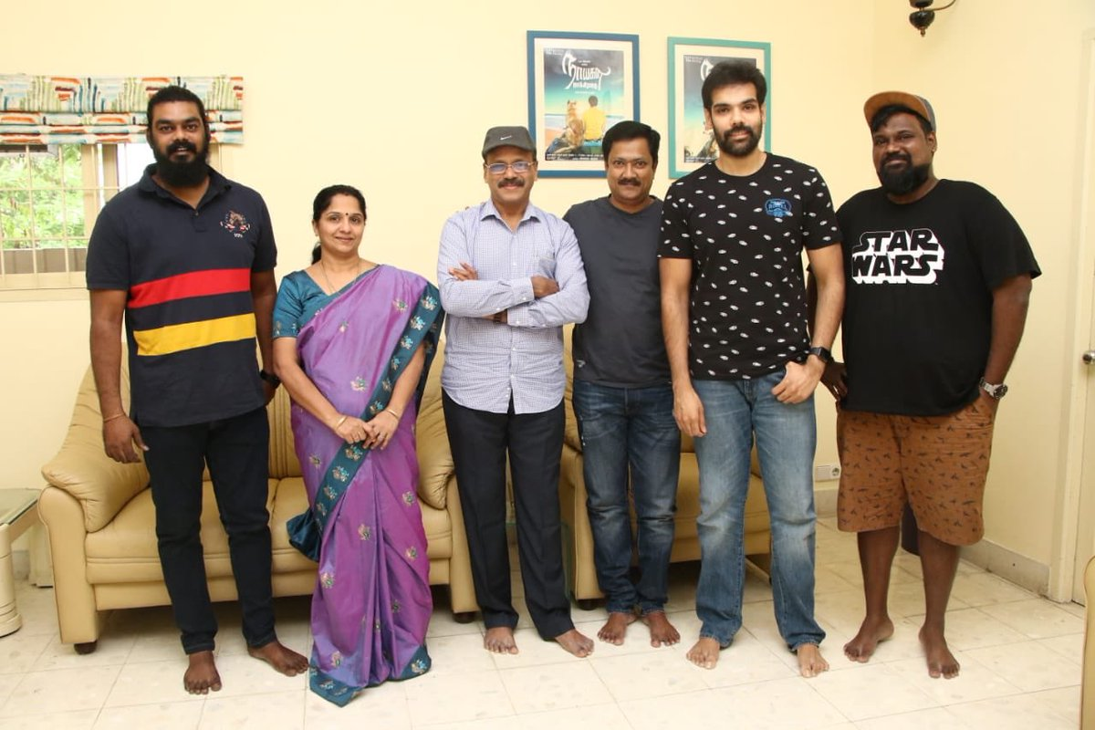 Team #Sathya is back with @Sibi_Sathyaraj - #Sathyaraj combo in a new film for @CreativeEnt4   Direction by @DirectorPradeep , Dialogues @JohnRoshan Produced by National Award winner @Dhananjayang @lalithagd   @simonkking musical