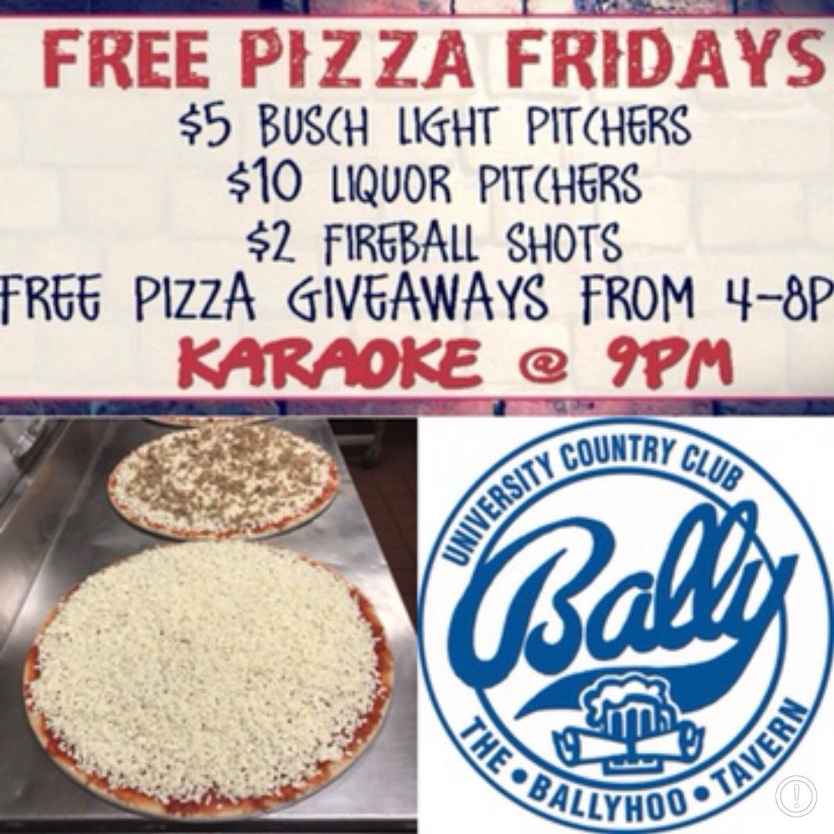 Only a couple more hours till the first free pizza of the semester, who's it going to? #freepizzafriday #pitcherdays<br>http://pic.twitter.com/UYMiNsgnft