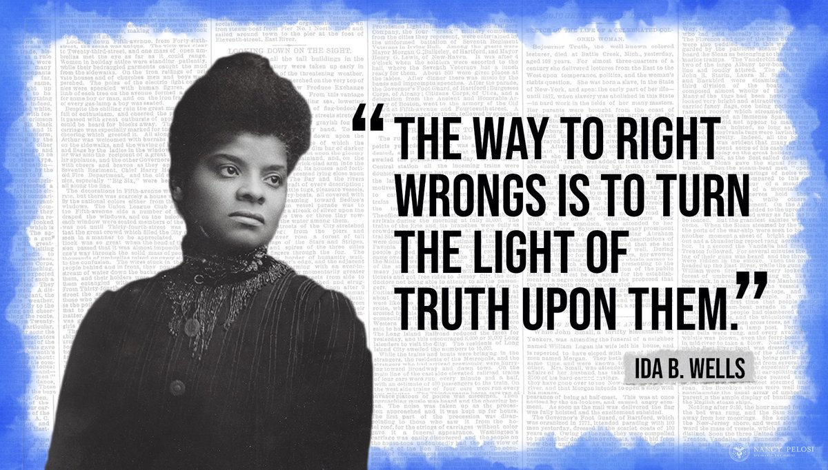 A crusader for change, Ida B. Wells organized economic boycotts as a tool to combat racial discrimination. Wells was an accomplished journalist & activist, reporting cases of racial injustice with pioneering journalism techniques that are still used today.