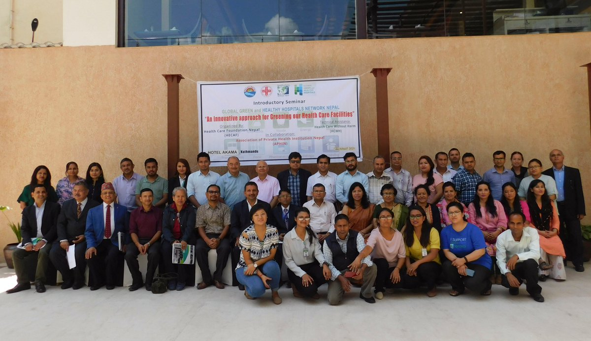 Hospitals and Health Organizations of Kathmandu came together this Wednesday to discuss on the innovative approach for greening health care facilities in Nepal. Partners: Health Care Without Harm - Global, Global Green and Healthy Hospital Nepal Network (GGHH), @WHO