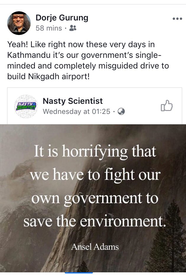 My sentiment too but is it yours? #Nepal #ClimateChange