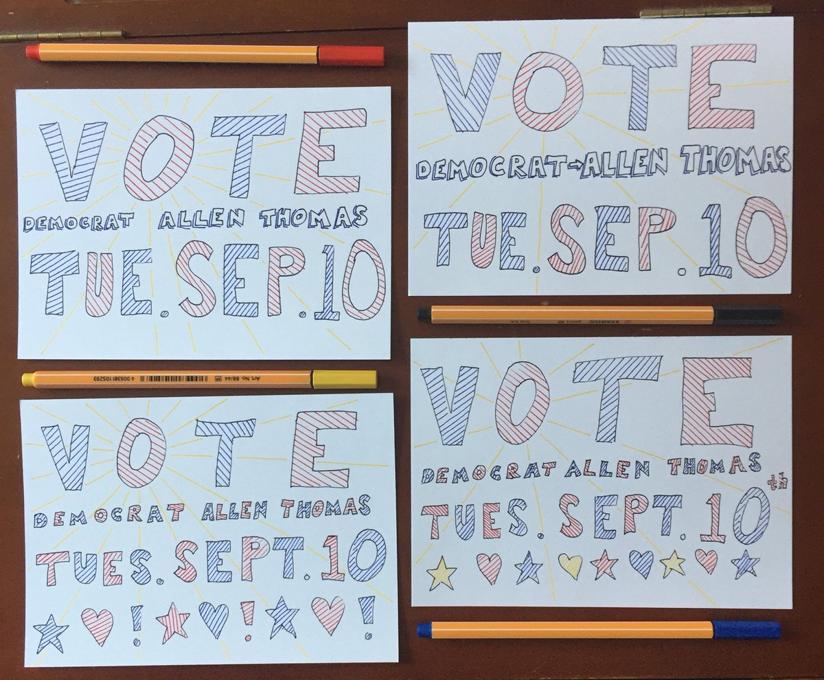Some more #PostcardsToVoters for #TeamThomasNC03 being written and mailed every day.  Over 14,500 in 3 days so far.  Join volunteer writers like Jascha N. whose cards are below.  It's fun.  It's easy.  And it works!  Text JOIN to (484) 275-2229 <br>http://pic.twitter.com/F42BQ6A33Y