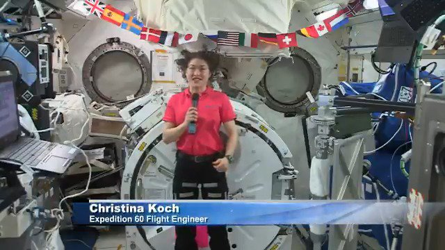 Today, @Astro_Christina logs 164 days in space -- halfway to her record-breaking 328 day mission, & on the same date as #WomensEqualityDay. Koch is conducting hundreds of experiments that pave the way for #Artemis missions to the Moon & Mars, as well as improve life on Earth.