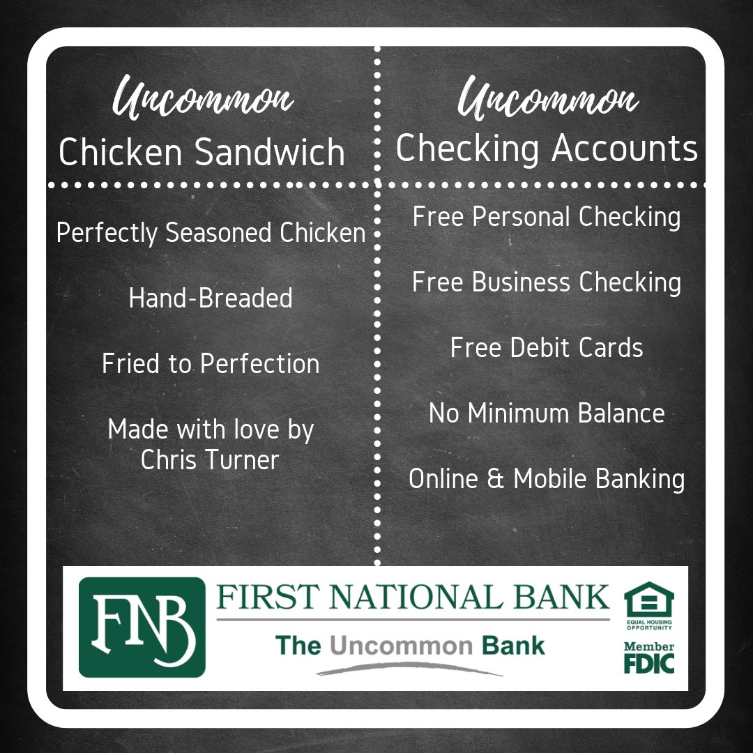 First National Bank - The Uncommon Bank (@TheUncommonBank