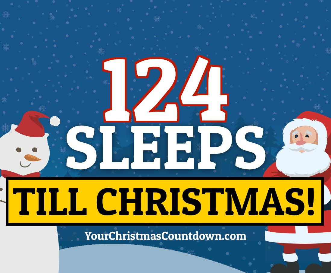 ONLY 123 MORE DAYS & 124 SLEEPS UNTIL CHRISTMAS!            Visit our website to see the LIVE countdown   http:// YourChristmasCountdown.com       https:// yourchristmascountdown.com /   <br>http://pic.twitter.com/30Qqij7nG3