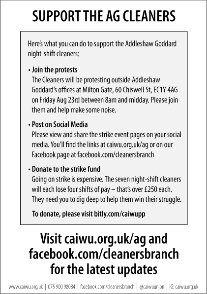 Heres how to get involved, even if you were unable to get to us at 8am on a Friday (!): - post on social media - donate to the strike fund - keep following us for news of the September strike twitter.com/caiwuunion/sta…