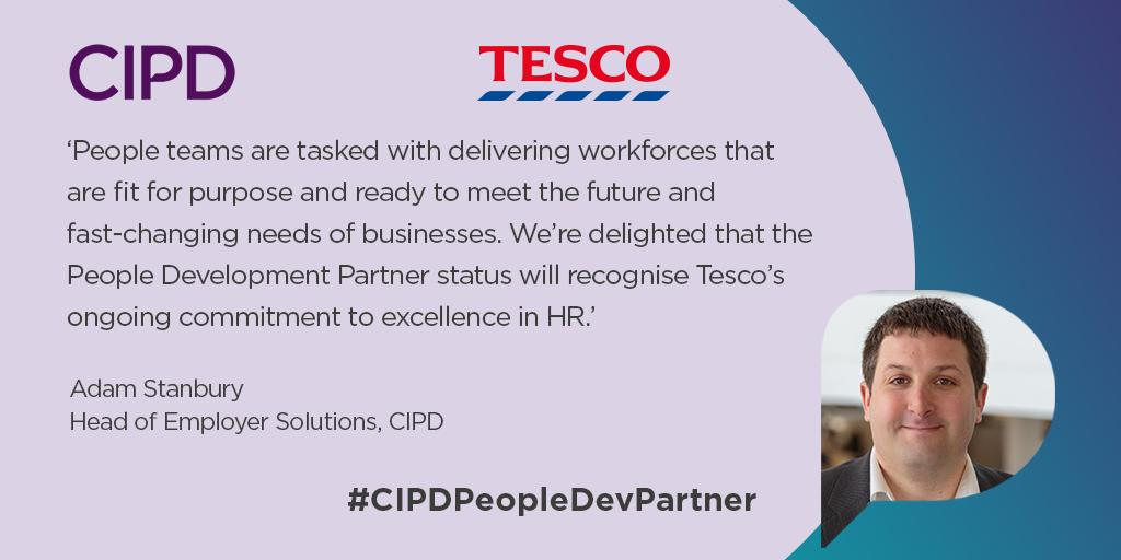 The #CIPDPeopleDevPartner recognises the commitment from companies to develop their people team as a function, as well as the HR and L&D professionals within the team. @tesconews has been recognised for their ongoing commitment to excellence in HR. ow.ly/bgZ750vGTgb