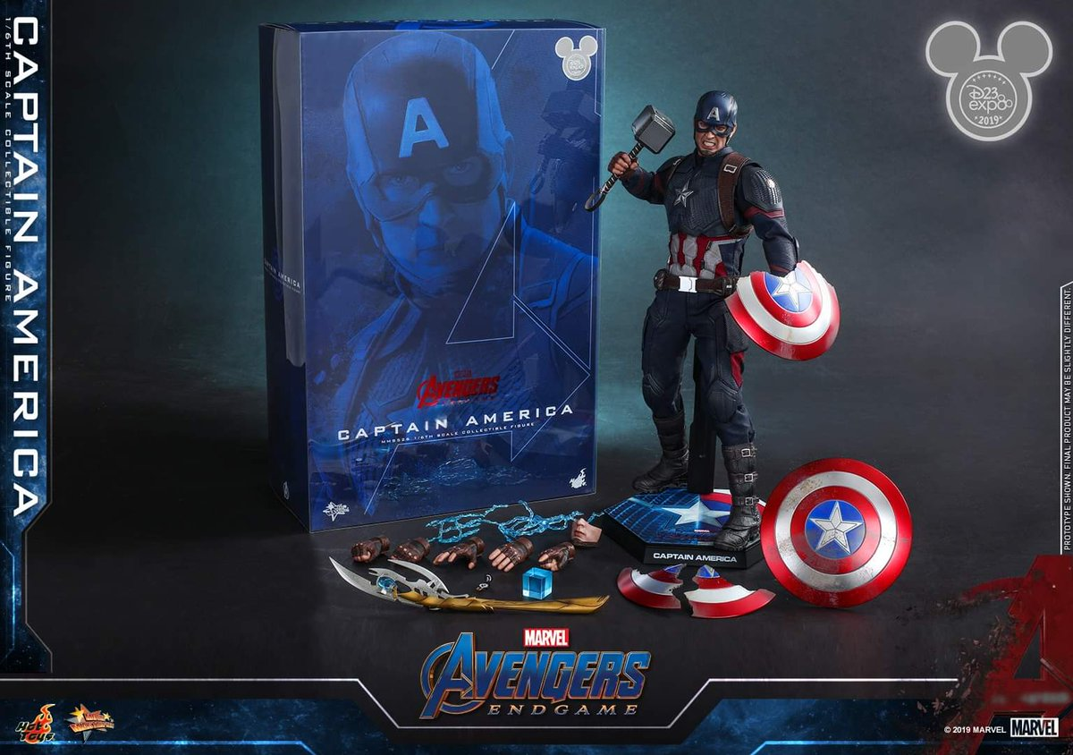 There is a Hot Toys #AvengersEndgame Captain America figure, and its exclusive to #D23Expo: